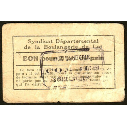 46-nr Souillac - Boulangerie Combes - Bon pour 2 kg. de pain - Etat : TB