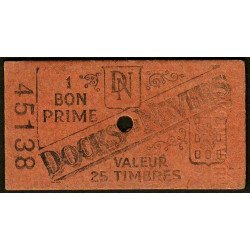 58 - Nevers - Docks de Nevers - Valeur 25 timbres - Type 1 - Etat : SUP