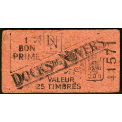 58 - Nevers - Docks de Nevers - Valeur 25 timbres - Type 3 - Etat : TB