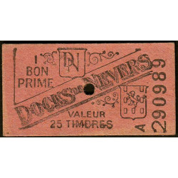 58 - Nevers - Docks de Nevers - Valeur 25 timbres - Type 5 - Etat : SUP