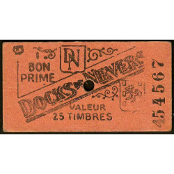 58 - Nevers - Docks de Nevers - Valeur 25 timbres - Type 6 - Etat : TTB