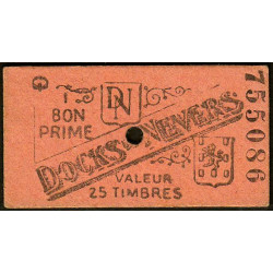 58 - Nevers - Docks de Nevers - Valeur 25 timbres - Type 7 - Etat : SUP