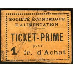 69 - Lyon - Sté Eco. d'Alimentation - Ticket prime 1 fr. d'achat - Type 3 - Etat : TB