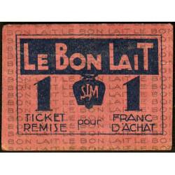 75 - Paris - Société Laitière Maggi - 1 franc d'achat - Etat : TTB
