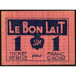 75 - Paris - Société Laitière Maggi - 1 franc d'achat - Etat : SPL