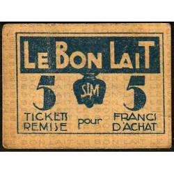 75 - Paris - Société Laitière Maggi - 5 francs d'achat - Etat : TB+