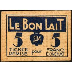 75 - Paris - Société Laitière Maggi - 5 francs d'achat - Etat : TTB+