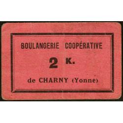 89-nr Charny - Boulangerie Coopérative - 2 K. - Etat : TTB+