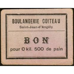 17-nr St-Jean d'Angely - Boul. Coiteau - Bon pour 0 kil. 500 de pain - Etat : SUP