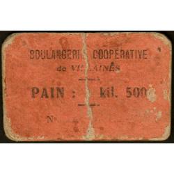 53 - Villaines - Boulangerie Coopérative - Pain : 1 kil. 500 - Etat : B