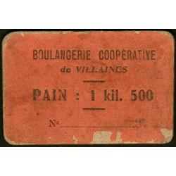 53 - Villaines - Boulangerie Coopérative - Pain : 1 kil. 500 - Etat : B+