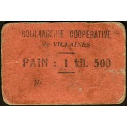 53 - Villaines - Boulangerie Coopérative - Pain : 1 kil. 500 - Etat : TB-