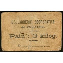 53 - Villaines - Boulangerie Coopérative - Pain : 3 kilog. - Etat : TB-