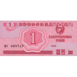 Corée du Nord - Pick 31 - 1 jeon - 1988 - Etat : NEUF