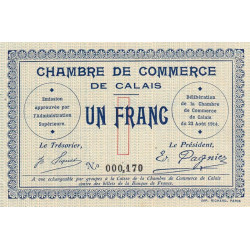 Calais - Pirot 36-03 - 1 franc - Etat : SPL