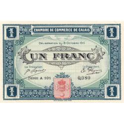 Calais - Pirot 36-15 - 1 franc - Etat : SUP+