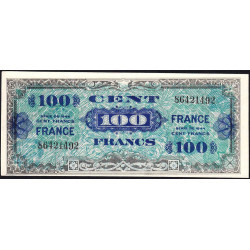 VF 25-1 - 100 francs - France - 1944 - Variété impression inclinée du recto - Etat : SPL