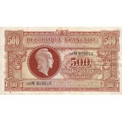 VF 11-2 - 500 francs - Marianne - 1945 - Etat : TB+