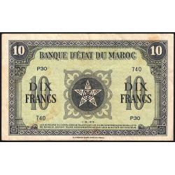 Maroc - Pick 25_1 - 10 francs - 1943 - Etat : TTB