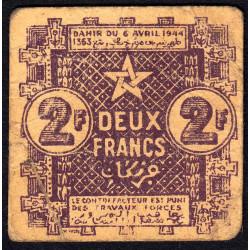 Maroc - Pick 43 - 2 francs - 1944 - Etat : TB