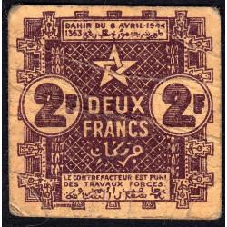 Maroc - Pick 43 - 2 francs - 1944 - Etat : TB+