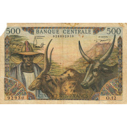 Cameroun - Pick 11-2 - 500 francs - Etat : AB