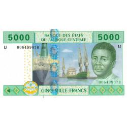 Cameroun - Afrique Centrale - P 209U-1 - 5'000 francs - 2002 - Etat : NEUF