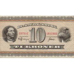 Danemark - Pick 44ag - 10 kroner - 1973 - Etat : TTB