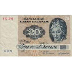 Danemark - Pick 49d - 20 kroner - 1983 - Etat : TTB