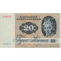 Danemark - Pick 49d - 20 kroner - 1983 - Etat : NEUF