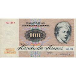 Danemark - Pick 51j - 100 kroner - 1983 - Etat : TTB