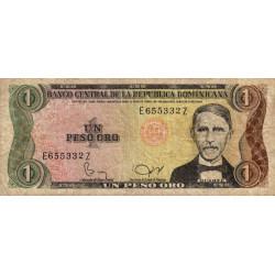 Rép. Dominicaine - Pick 117c - 1 peso oro - 1982 - Etat : TB-