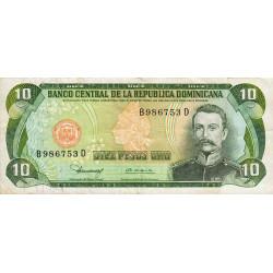 Rép. Dominicaine - Pick 119b1 - 10 pesos oro - 1980 - Etat : TB+