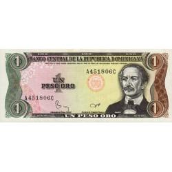 Rép. Dominicaine - Pick 126a1 - 1 peso oro - 1984 - Etat : SUP+