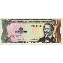 Rép. Dominicaine - Pick 126a2 - 1 peso oro - 1984 - Etat : NEUF