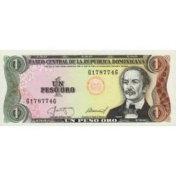 Rép. Dominicaine - Pick 126b1 - 1 peso oro - 1987 - Etat : NEUF