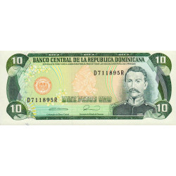Rép. Dominicaine - Pick 132 - 10 pesos oro - 1990 - Etat : NEUF