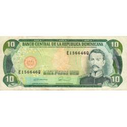 Rép. Dominicaine - Pick 132 - 10 pesos oro - 1990 - Etat : TTB