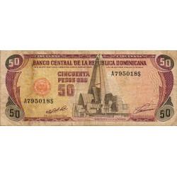 Rép. Dominicaine - Pick 135a - 50 pesos oro - 1991 - Etat : TB-