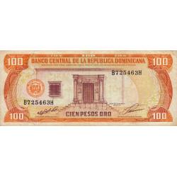 Rép. Dominicaine - Pick 136a - 100 pesos oro - 1991 - Etat : TTB