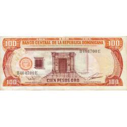 Rép. Dominicaine - Pick 144 - 100 pesos oro - 1993 - Etat : TB+