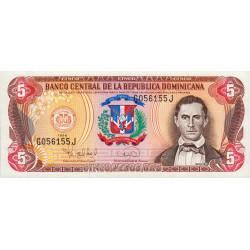 Rép. Dominicaine - Pick 152a - 5 pesos oro - 1996 - Etat : NEUF