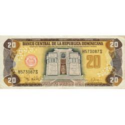 Rép. Dominicaine - Pick 154b - 20 pesos oro - 1998 - Etat : TTB+