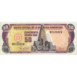 Rép. Dominicaine - Pick 155b - 50 pesos oro - 1998 - Etat : SUP