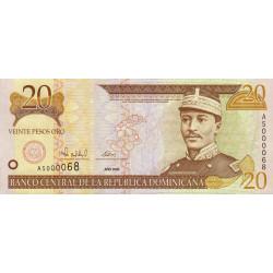Rép. Dominicaine - Pick 160 - 20 pesos oro - 2000 - Etat : NEUF