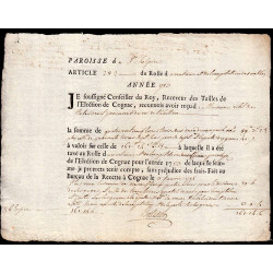 Charente - Cognac St-Sulpice - Louis XV - 1753 - Vingtième des Nobles - 89 livres - Etat : SUP