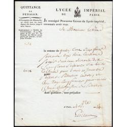 Seine - Paris - 1er empire - 1805 - Quittance Lycée Impérial - 402 francs - Etat : SUP