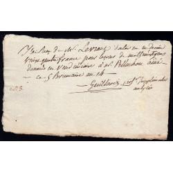 Seine - Paris - 1er empire - 1805 - Reçu Lycée Impérial - 24 francs - Etat : SUP