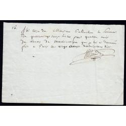 Seine - Paris - 1er empire - 1806 - Reçu Lycée Impérial - 96 livres - Etat : SUP