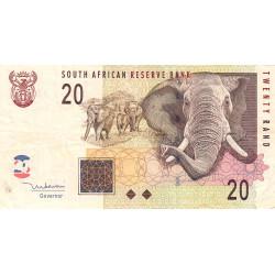 Afrique du Sud - Pick 129a - 20 rand - 2005 - Etat : TB+
